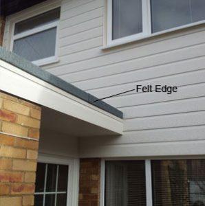 felt roof edge