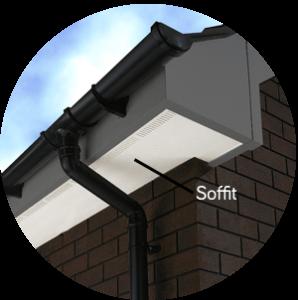 uPVC Soffit with ventilation