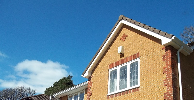 White fascia soffit and gutter plus Dry cloak verge covers