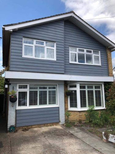 Dark Grey Cladding installation in Guildford